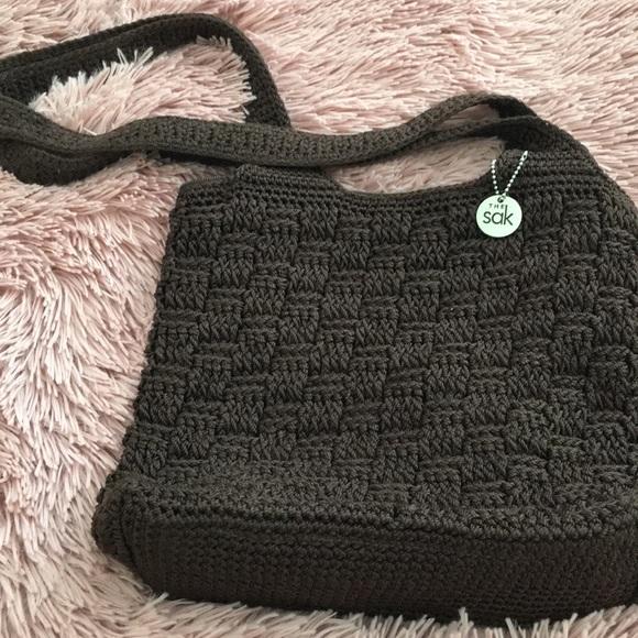 The Sak Bags Small Brown Crocheted Shoulder Bag Poshmark